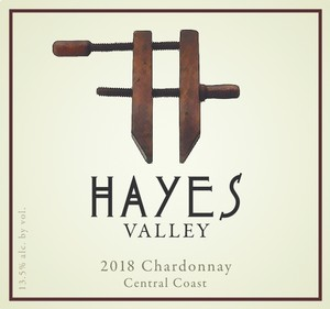 Hayes Valley Wines label for 2018 Chardonnay