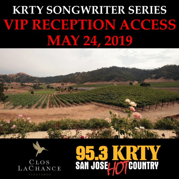 VIP Songwriter's Reception Access: 5/24/19 (must have a concert ticket already purchased to be eligible)