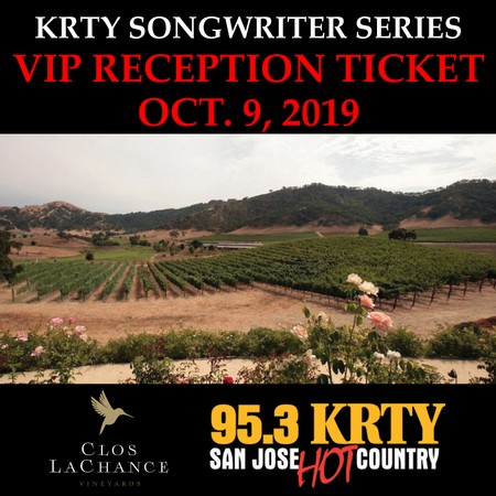 VIP Songwriter's Reception Access: 10/9/19 (must have a concert ticket already purchased to be eligible)